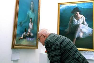 выставка, картины, Фалуньгун